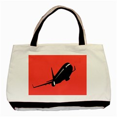 Air Plane Boeing Red Black Fly Basic Tote Bag