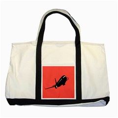 Air Plane Boeing Red Black Fly Two Tone Tote Bag