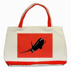 Air Plane Boeing Red Black Fly Classic Tote Bag (red)
