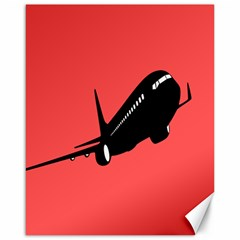 Air Plane Boeing Red Black Fly Canvas 16  X 20