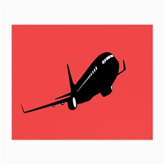 Air Plane Boeing Red Black Fly Small Glasses Cloth (2 Side)