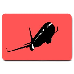 Air Plane Boeing Red Black Fly Large Doormat