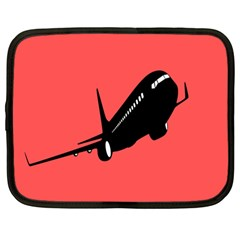 Air Plane Boeing Red Black Fly Netbook Case (large)