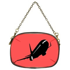 Air Plane Boeing Red Black Fly Chain Purses (two Sides)