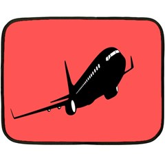 Air Plane Boeing Red Black Fly Fleece Blanket (mini)