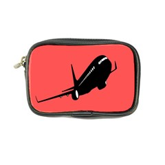 Air Plane Boeing Red Black Fly Coin Purse