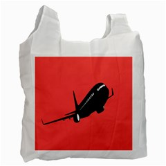Air Plane Boeing Red Black Fly Recycle Bag (one Side)