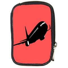 Air Plane Boeing Red Black Fly Compact Camera Cases
