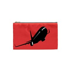 Air Plane Boeing Red Black Fly Cosmetic Bag (small)