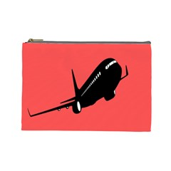 Air Plane Boeing Red Black Fly Cosmetic Bag (large)