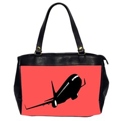 Air Plane Boeing Red Black Fly Office Handbags (2 Sides)