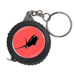 Air Plane Boeing Red Black Fly Measuring Tapes