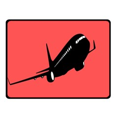 Air Plane Boeing Red Black Fly Fleece Blanket (small)