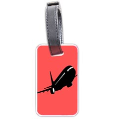 Air Plane Boeing Red Black Fly Luggage Tags (one Side)