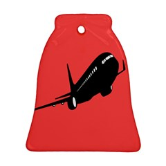 Air Plane Boeing Red Black Fly Ornament (bell)