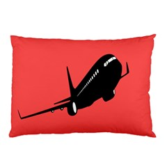 Air Plane Boeing Red Black Fly Pillow Case (two Sides)