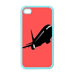 Air Plane Boeing Red Black Fly Apple Iphone 4 Case (color)