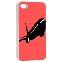 Air Plane Boeing Red Black Fly Apple Iphone 4/4s Seamless Case (white)