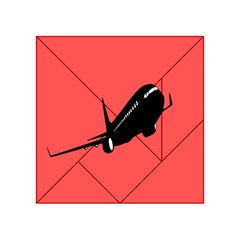 Air Plane Boeing Red Black Fly Acrylic Tangram Puzzle (4  X 4 )