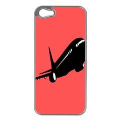 Air Plane Boeing Red Black Fly Apple Iphone 5 Case (silver)