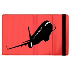 Air Plane Boeing Red Black Fly Apple Ipad 3/4 Flip Case