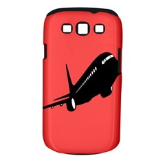 Air Plane Boeing Red Black Fly Samsung Galaxy S Iii Classic Hardshell Case (pc+silicone)