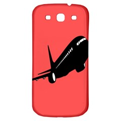Air Plane Boeing Red Black Fly Samsung Galaxy S3 S Iii Classic Hardshell Back Case
