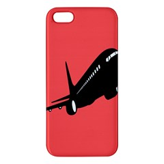 Air Plane Boeing Red Black Fly Apple Iphone 5 Premium Hardshell Case