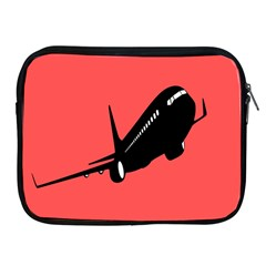 Air Plane Boeing Red Black Fly Apple Ipad 2/3/4 Zipper Cases