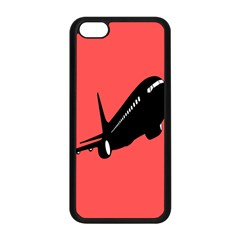 Air Plane Boeing Red Black Fly Apple Iphone 5c Seamless Case (black)