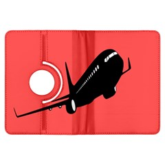 Air Plane Boeing Red Black Fly Kindle Fire Hdx Flip 360 Case