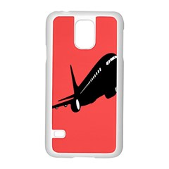 Air Plane Boeing Red Black Fly Samsung Galaxy S5 Case (white)