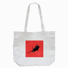 Air Plane Boeing Red Black Fly Tote Bag (white)