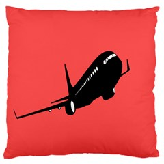 Air Plane Boeing Red Black Fly Large Flano Cushion Case (one Side)