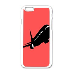Air Plane Boeing Red Black Fly Apple Iphone 6/6s White Enamel Case