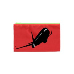 Air Plane Boeing Red Black Fly Cosmetic Bag (xs)
