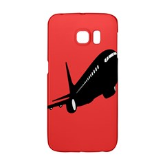 Air Plane Boeing Red Black Fly Galaxy S6 Edge
