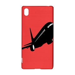 Air Plane Boeing Red Black Fly Sony Xperia Z3+