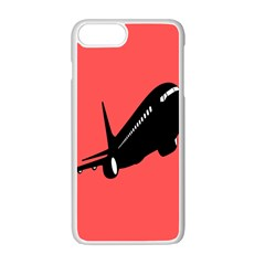 Air Plane Boeing Red Black Fly Apple Iphone 7 Plus White Seamless Case