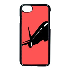 Air Plane Boeing Red Black Fly Apple Iphone 7 Seamless Case (black)