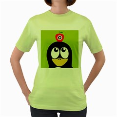Animals Penguin Women s Green T Shirt