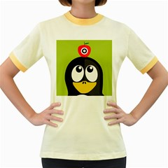 Animals Penguin Women s Fitted Ringer T Shirts