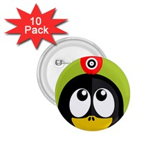 Animals Penguin 1 75  Buttons (10 Pack)