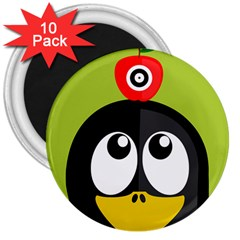 Animals Penguin 3  Magnets (10 Pack)