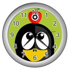 Animals Penguin Wall Clocks (silver)