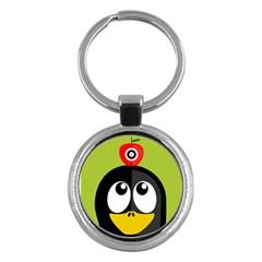 Animals Penguin Key Chains (round)
