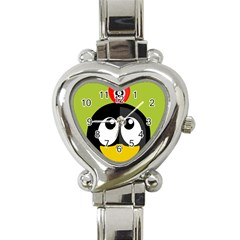 Animals Penguin Heart Italian Charm Watch