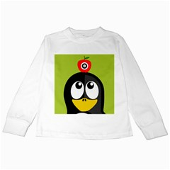 Animals Penguin Kids Long Sleeve T Shirts