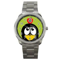 Animals Penguin Sport Metal Watch