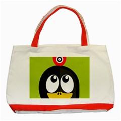 Animals Penguin Classic Tote Bag (red)